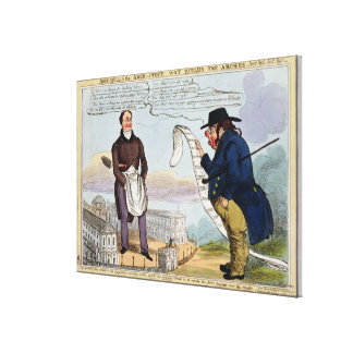 John Bull and the Architect Wot Builds the Arches Canvas Print