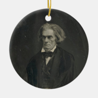 John C. Calhoun by Mathew Brady 1849 Round Ceramic Decoration