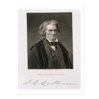 John Caldwell Calhoun, engraved by Henry Bryan Hal Postcard