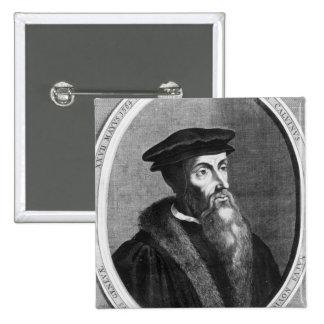 John Calvin 15 Cm Square Badge