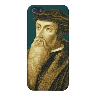 John Calvin iPhone4 Case in Sola Scriptura Cyan iPhone 5 Cases