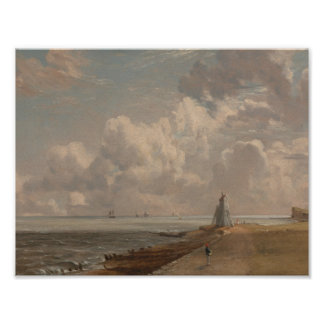 John Constable - Harwich - The Low Lighthouse Poster