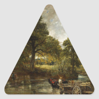 John Constable Hay Wain Triangle Sticker