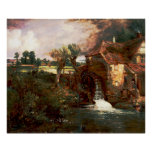 John Constable - Parham Mill (Modified) Poster