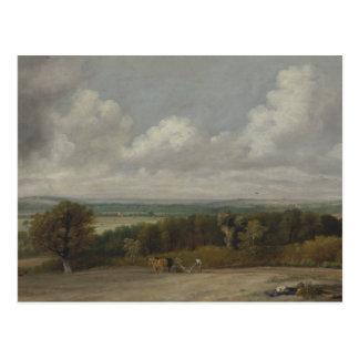 John Constable - Ploughing Scene in Suffolk Postcard