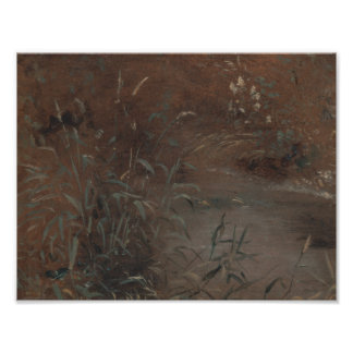 John Constable - Rushes by a Pool Poster