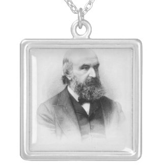 John Couch Adams, engraved by George J. Stodart Silver Plated Necklace