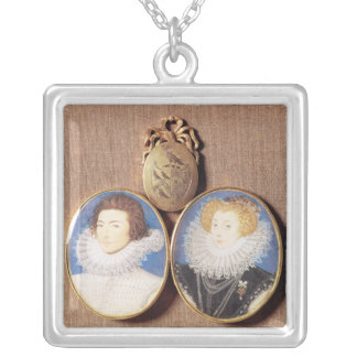 John Croker and his wife Frances Silver Plated Necklace