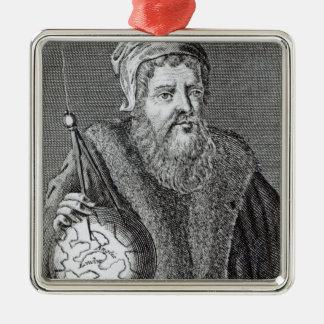 John Dee  a Londoner Silver-Colored Square Decoration