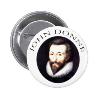 John Donne 6 Cm Round Badge