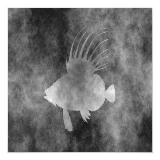 john dory fish 13 cm x 13 cm square invitation card