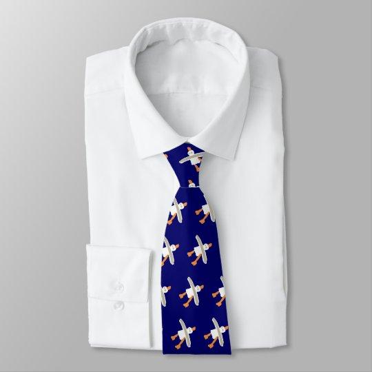 John Dyer dark blue seagull designer tie