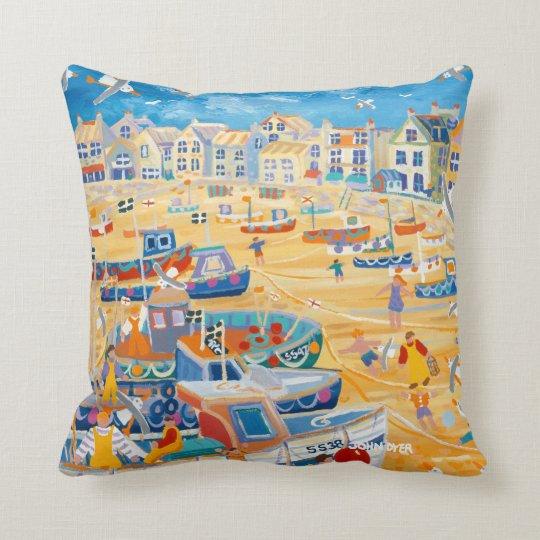 John Dyer St Ives cushion. Cornwall Throw Pillow