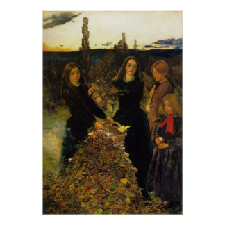 John Everett Millais Autumn Leaves Poster