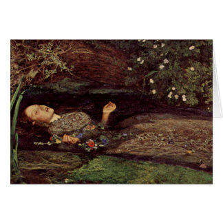 John Everett Millais Ophelia Greeting Card