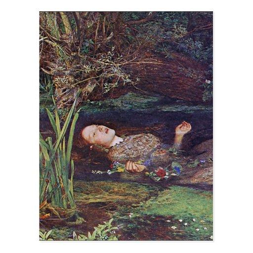 John Everett Millais Ophelia Post Card