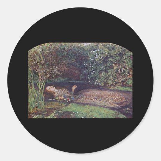 John Everett Millais Ophelia Round Sticker