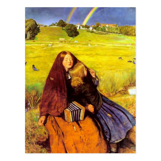John Everett Millais- The Blind Girl Postcard