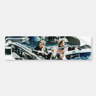 John F Kennedy and Jackie in the Motorcade Dallas Bumper Sticker