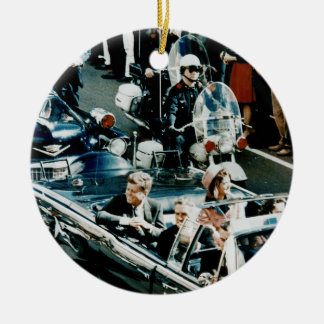 John F Kennedy and Jackie in the Motorcade Dallas Christmas Ornament