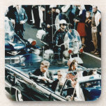John F Kennedy and Jackie in the Motorcade Dallas Beverage Coasters