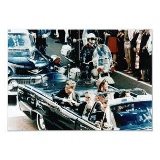 John F Kennedy and Jackie in the Motorcade Dallas Invites