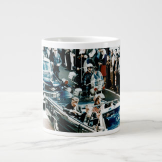 John F Kennedy and Jackie in the Motorcade Dallas Large Coffee Mug