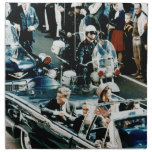 John F Kennedy and Jackie in the Motorcade Dallas Printed Napkin