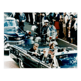 John F Kennedy and Jackie in the Motorcade Dallas Postcard