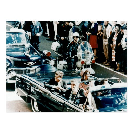 John F Kennedy and Jackie in the Motorcade Dallas Postcards