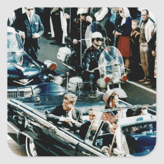 John F Kennedy and Jackie in the Motorcade Dallas Sticker