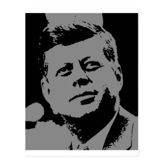 John F. Kennedy  black and grey silhouette Postcard