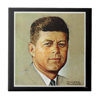 John F. Kennedy IN MEMORIAM 2 Small Square Tile