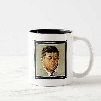 John F. Kennedy IN MEMORIAM 2 Two-Tone Coffee Mug