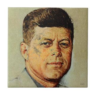 John F. Kennedy IN MEMORIAM Small Square Tile