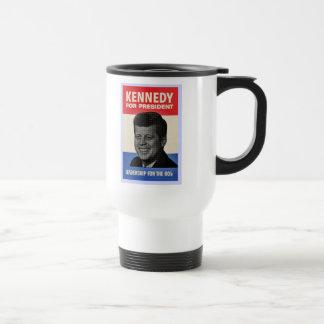 John F Kennedy Stainless Steel Travel Mug