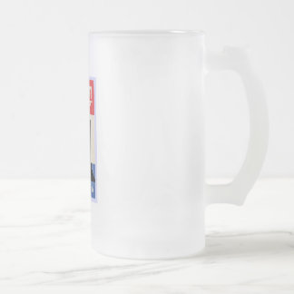 John F Kennedy Frosted Glass Mug