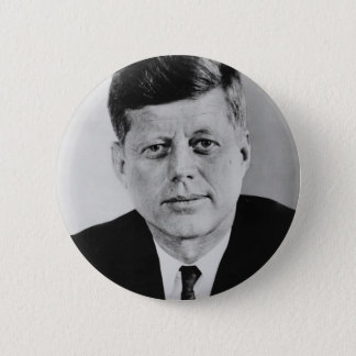 John_F_Kennedy official photo from public domain 6 Cm Round Badge