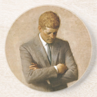 John F Kennedy Official Portrait by Aaron Shikler Coaster