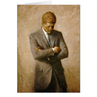 John F Kennedy Official Portrait by Aaron Shikler Greeting Card