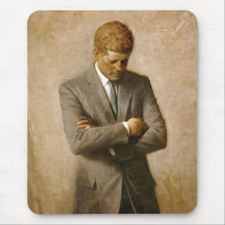 John F Kennedy Official Portrait by Aaron Shikler Mouse Mat