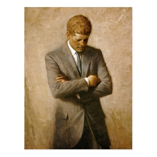 John F Kennedy Official Portrait by Aaron Shikler Postcard
