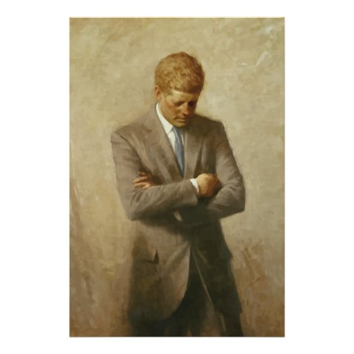 John F. Kennedy Painting -- Border Print