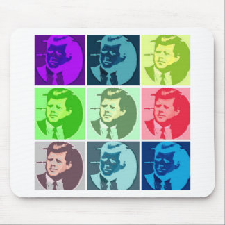 John F Kennedy Pop Art Mouse Mat