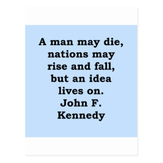 john f kennedy quote postcard