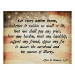 John. F Kennedy Quote Print