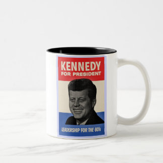 John F Kennedy Two-Tone Coffee Mug
