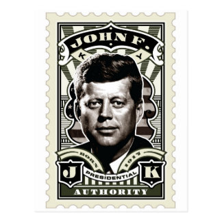 John F. Kennedy Vintage Stamp Art Postcard