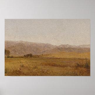 John Frederick Kensett - Snowy Range and Foothills Poster