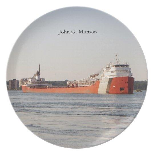 John G. Munson plate